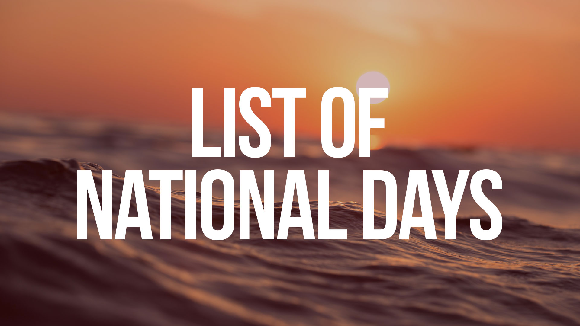 Link to List of National Days